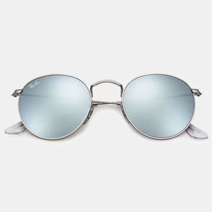 Mirrored Round Metal RB3447 Ray-Ban Sunglasses